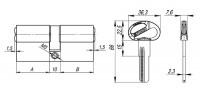 Цилиндровый механизм Fuaro (Фуаро) D-PRO500/80 mm (35+10+35) CP хром 5 кл.