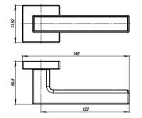 Ручка Armadillo SCREEN USQ8 BB/BB/SBB-17 Кор. бронза/Кор. Бронза/Мат.Кор бронза