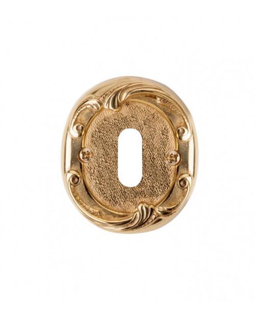 Накладка Val de Fiori под сув. ключ к ручкам Соланж и Наполи, латунь блестящая, OB 74 PB
