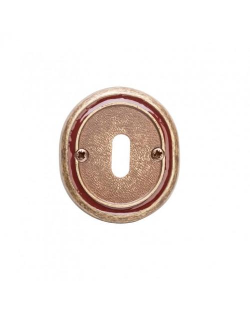 Накладка Val de Fiori под сув. ключ к ручке Беладжио, бронза состаренная с эмалью., OB 70 OB/BRI