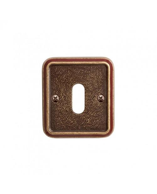 Накладка Val de Fiori под сув. ключ к ручке Николь, бронза состаренная с эмалью, OB 72 OB/BRI