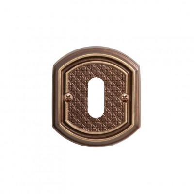 Накладка Val de Fiori под сув. ключ к ручке Ризарди, бронза шоколадная, OB 71 CB