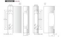 Петля скрытая Morelli HH-16 PC хром