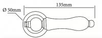 Ручка Morelli MH-42 Classic PG W золото, белая керамика