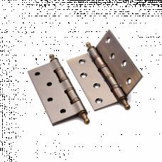 Петля латунная Renz 100*70*3, 4 подшипника, с колпачком, бронза ант.