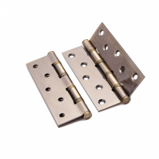 Петля латунная Renz 125*70*3, 4 подшипника, бронза ант.