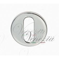 Накладка дверная круглая под ключ буратино Venezia Unique KEY-30 (серия SLIM) матовый хром