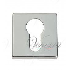 Накладка дверная квадратная под цилиндр Venezia Unique CYL-20 полированный хром