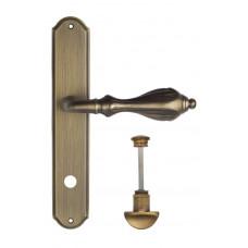 Ручка Venezia ANAFESTO WC на планке PL02 матовая бронза