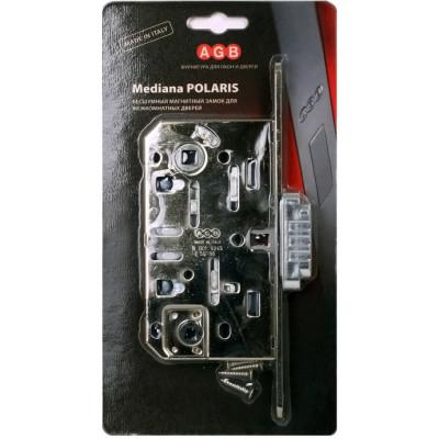 Замок межкомнатный AGB Mediana Polaris B05102.50.06.567, хром