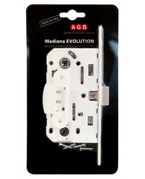 Замок межкомнатный AGB Mediana Evolution В01102.50.91.567, белый