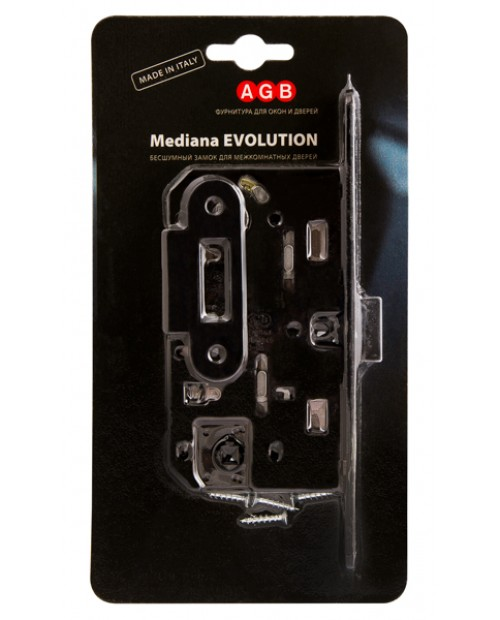 Замок межкомнатный AGB Mediana Evolution В01102.50.93.567 черный