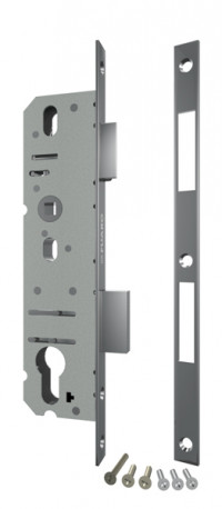 Корпус узкопрофильного Fuaro (Фуаро) замка с защелкой 4916-25/92 CP (хром) межосев. расст. 92 мм