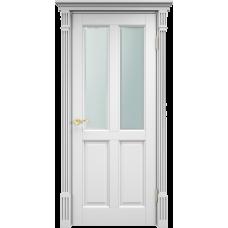 Дверь Арсенал 15ш остекленная белая эмаль