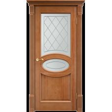 Дверь Арсенал 26ш остекленная, орех
