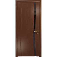 Дверь DioDoor Грация 1 красное дерево триплекс черный