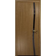 Дверь DioDoor Грация 1 ясень античный  триплекс черный