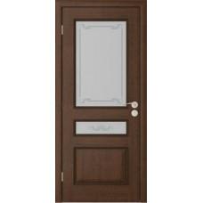 Дверь Юркас Вена остекленная Каштан