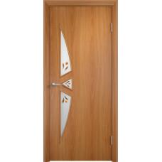 Дверь ламинированная Тип С-01 ДОФ, миланский орех
