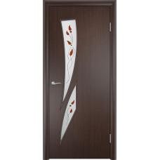 Дверь ламинированная Тип С-02 ДО, венге