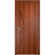 Дверь ламинированная Тип С-01 ДГ, итальянский орех