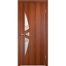 Дверь ламинированная Тип С-01 ДОФ, итальянский орех