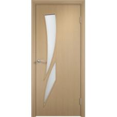 Дверь ламинированная Тип С-02 ДО, беленый дуб