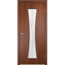 Дверь ПВХ Богемия ДО итальянский орех