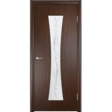 Дверь ПВХ Богемия ДО венге