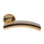 Ручка дверная Sillur 132 золото / кристаллы