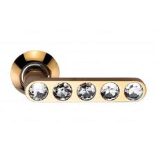 Ручка дверная Sillur 200 золото / кристаллы