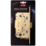 Замок межкомнатный AGB Mediana Evolution В01102.50.23.567, матовое золото