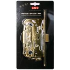 Замок межкомнатный AGB Mediana Evolution В01102.50.03.567, золото