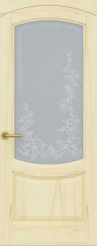 Дверь Лувр, Ясень слоновая кость, Стекло