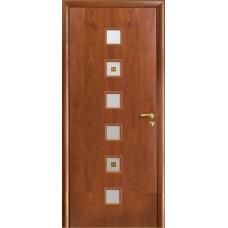 Дверь Оникс Вега, стекло, красное дерево