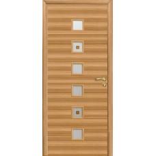 Дверь Оникс Вега, стекло, зебрано