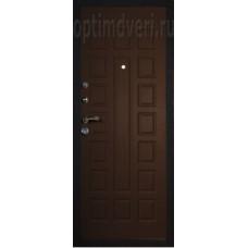 Дверь входная, Prima 2 черный Crocodile, венге
