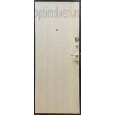 Дверь входная Оптим M-6, Черный шелк, капучино