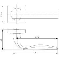 Ручка Ajax EVO JK SN/CP-3 матовый никель/хром