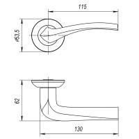 Ручка Ajax GLORIA JR SN/CP-3 матовый никель/хром