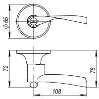 Ручка защелка Ajax 6010 CP-B (фик.) хром