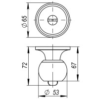 Ручка защелка Ajax 6082 SN-P (без фик.) мат. никель