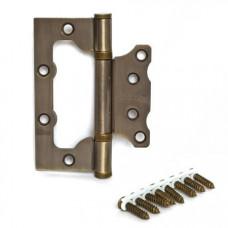 Петля накладная Apecs 100*75*2,5-B2-Steel-AB-Blister