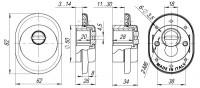 Броненакладка ARMADILLO (от вырывания, 25 мм) ET/ATC-Protector 1-25SN-3 Матовый никель box