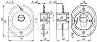 Броненакладка ARMADILLO сквозн. крепл. (от вырывания, 33 мм) ET/ATC-Protector 2-33GP-2 Золото box
