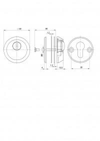 Броненакладка Fuaro DEF 5513 CP ХРОМ (тех упаковка)