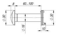 Дверной глазок Armadillo стеклянная оптика DVG3, 16/60х100 SG Мат. Золото