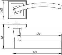 Ручка дверная Punto (Пунто) NAVY QL GR/CP-23 графит/хром