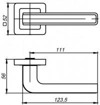 Ручка Punto NOVA QR SN/WH-19 мат.никель/белый