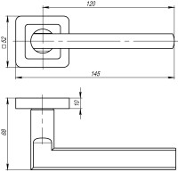 Ручка Punto PLUTON QR SN/CP-3 матовый никель/хром